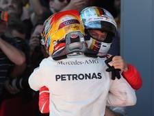Hamilton dolgelukkig na 'ruw gevecht' met Vettel