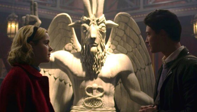 Het bewuste standbeeld dat gebruikt wordt in de serie 'Chilling Adventures Of Sabrina'.
