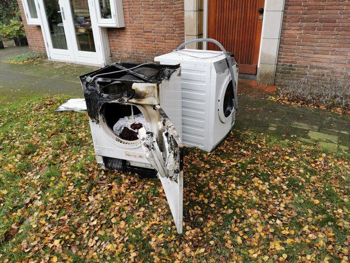 De wasdroger was gaan branden in Wageningen.
