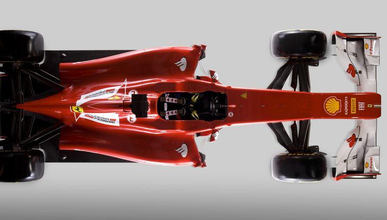 Zo zou een gesloten cockpit op de F 1-bolide van Kimi Raikkonen eruit kunnen zien. Beeld AFP