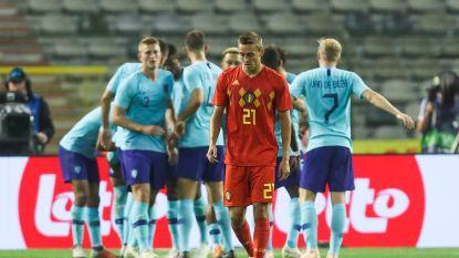 Vervangers grijpen hun kans niet: Rode Duivels spelen gelijk tegen Nederland nadat uitgerekend Danjuma heerlijke treffer van Mertens uitwist