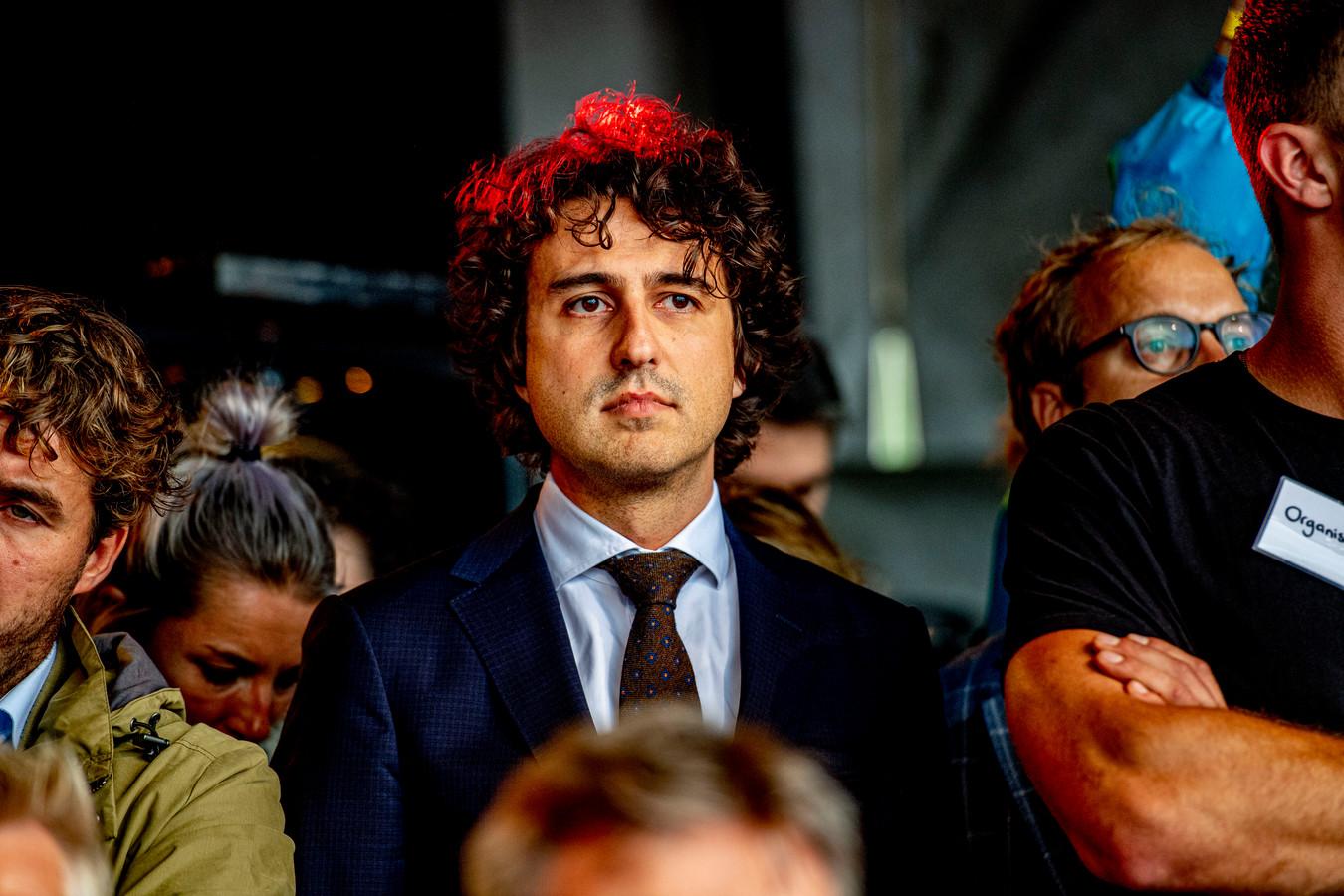GroenLinks-leider Jesse Klaver bij het boerenprotest van 1 oktober 2019 op het Malieveld in Den Haag