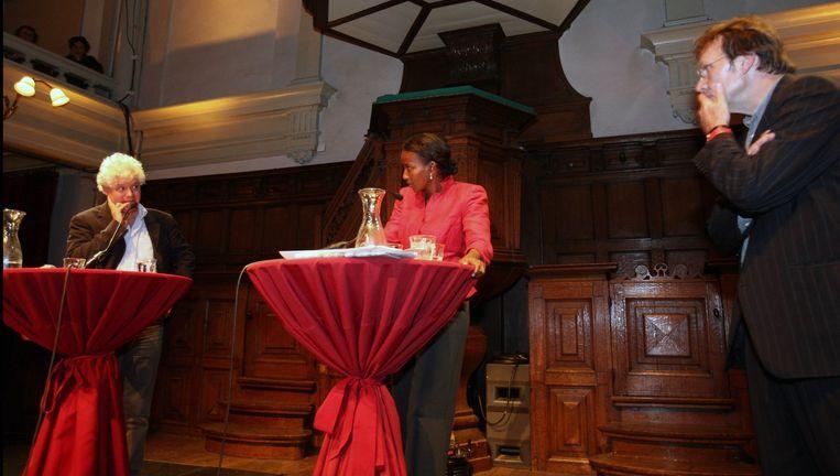 Archief: politica Ayaan Hirsi Ali in discussie met Paul Scheffer. Beeld anp