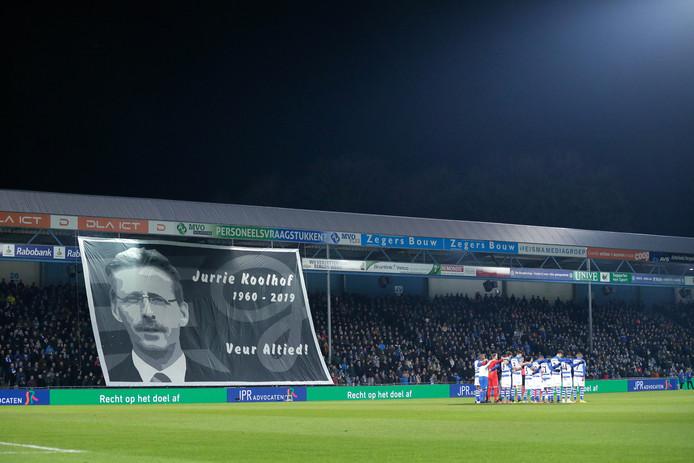 Eerbetoon aan Koolhof bij de wedstrijd van De Graafschap.