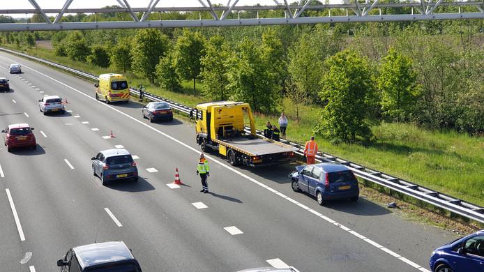 Vanmorgen vond een ongeval met drie auto's plaats op de A12 bij Ede.