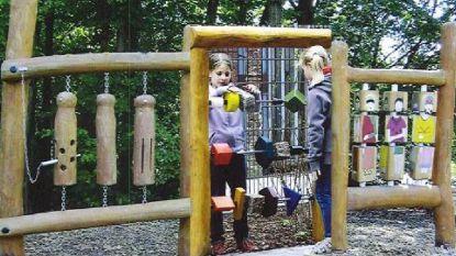 Twee speeltoestellen voor kinderen met beperking aan Hertenweide
