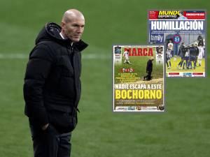 """""""La fin d'un cycle"""": Zidane vivement critiqué par la presse espagnole après la sortie """"honteuse"""" du Real en Coupe"""