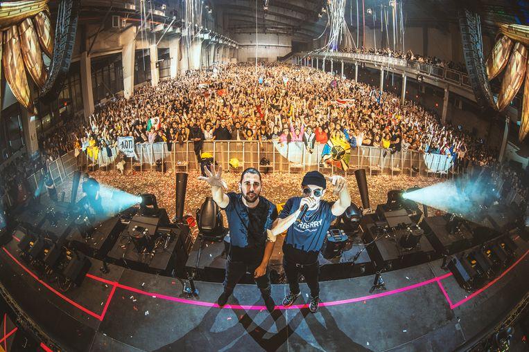 Dimitri Vegas & Like Mike mochten optreden voor 10.000 man.
