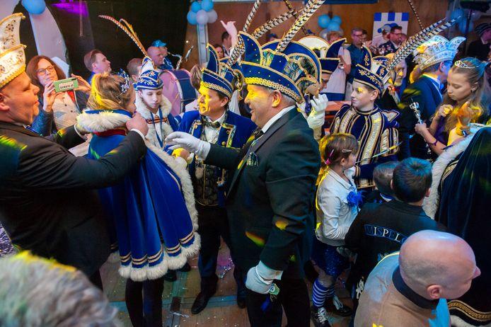 Het Prinsenbal, zoals hier  in januari 2020 van carnavalsvereniging de Wallepikkers in Mispelgat, gaat in 2021 niet door.