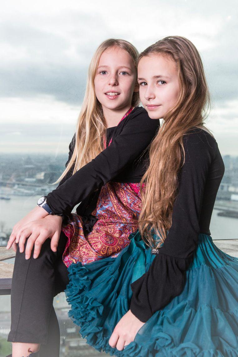 Bo van Hienen (9) en Kenza Beek (10) Beeld Dingena Mol
