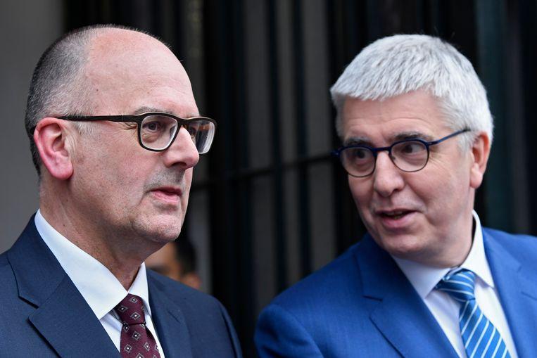Kersvers VBO-voorzitter Bart De Smet naast VBO-gedelegeerd bestuurder Pieter Timmermans.
