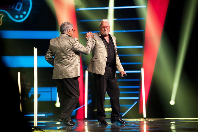 Mich en Henk bij The Voice Senior.