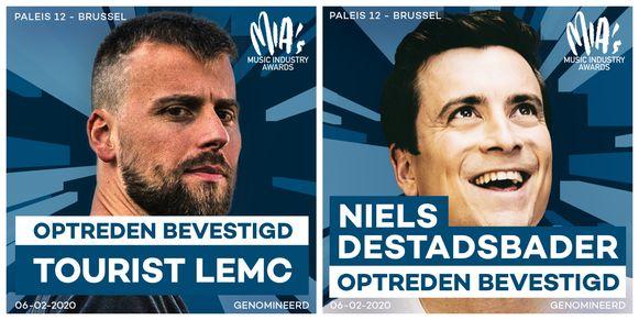 Tourist LeMC en Niels Destadsbader komen optreden op de MIA's