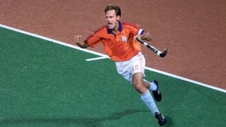 Stephan Veen als aanvoerder van Oranje bij de Spelen van Australië in 2000. Beeld anp