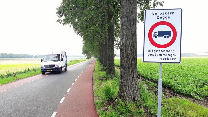 Het Roosendaalse deel van de Lage Zegstraat.