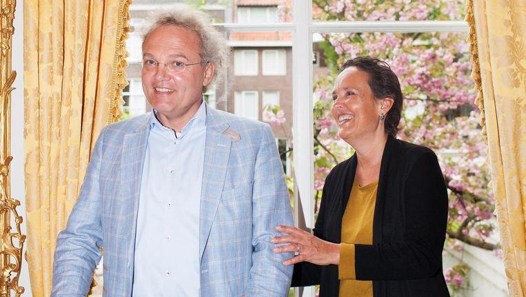 Journalisten Danielle Pinedo en Bart van Eldert Beeld Renate Beense