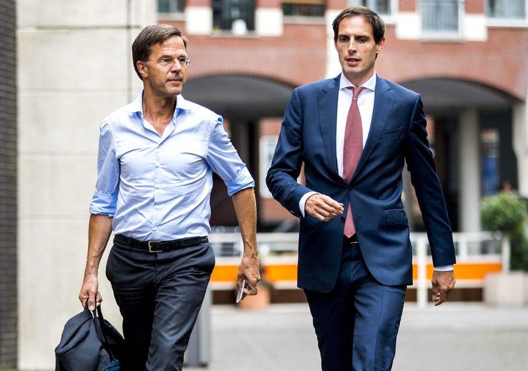 Premier Mark Rutte en Minister van Financiën Wopke Hoekstra.  Beeld ANP
