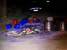 Gedumpt drugsafval in brand gestoken in Nuenen