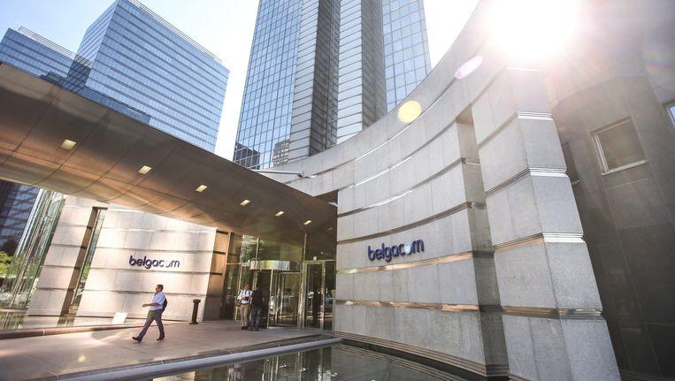 Het hoofdkwartier van Belgacom in Brussel. Beeld EPA