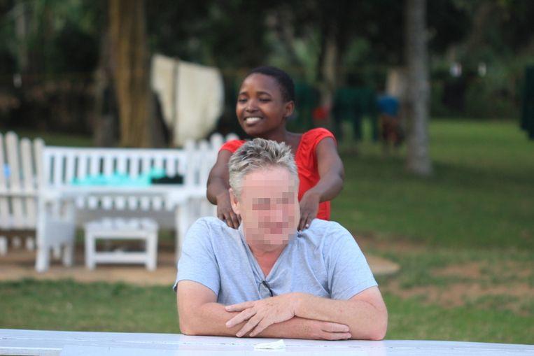 Bernhard G. op zijn domein in Oeganda
