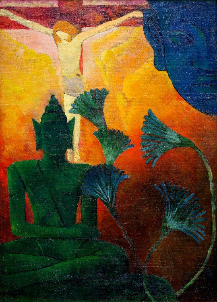 'Christus en Boeddha' (ca. 1890) van Paul-Élie Ranson. Beeld