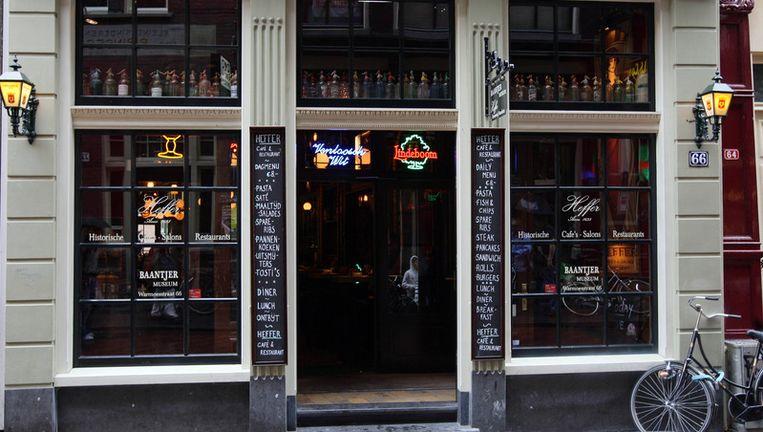 Het Baantjermuseum in de kelder van cafe Heffer aan de Warmoesstraat. Foto ANP Beeld