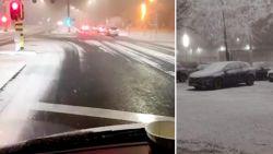 Het is zover: eerste sneeuw dwarrelt neer in Vlaanderen, maar het is niet wat het lijkt