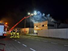Brand in leegstaand kantoorpand Hoogerheide: 'Eerst een knal, daarna gelijk vlammen'