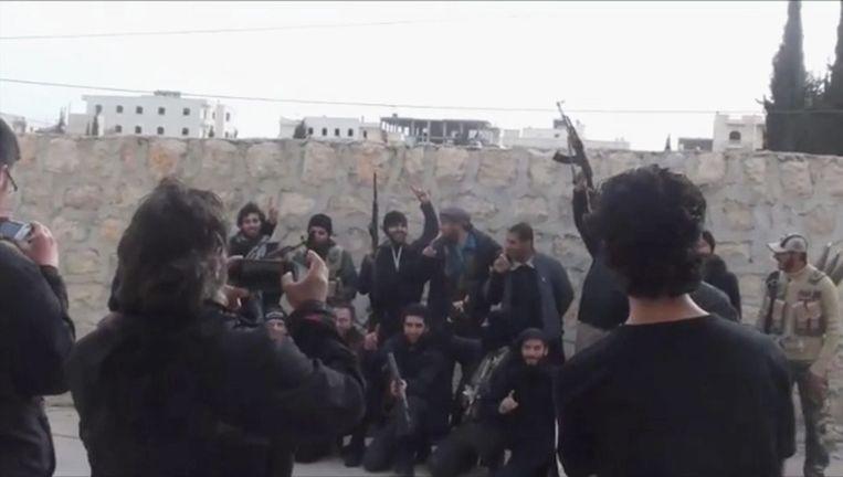 Een beeld uit de reportage 'Allah Guerre', die werd uitgezonden op Canvas.