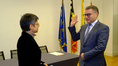 Koen Van den Heuvel legt eed af als burgemeester nieuwe fusiegemeente