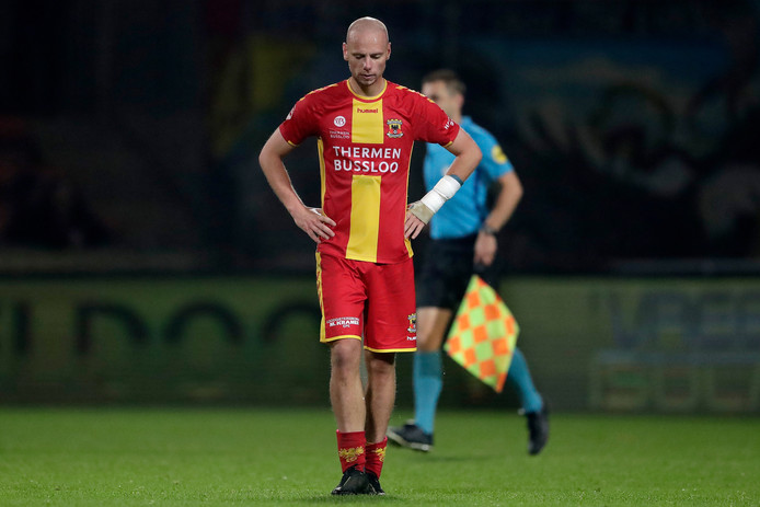 Elmo Lieftink baalt van het nieuwe puntenverlies van GA Eagles.