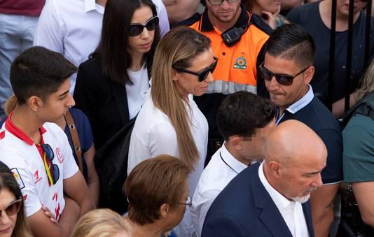 José Antonio Reyes Lopez vandaag op de begrafenis van zijn vader.