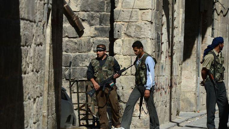 Syrische rebellen in Aleppo. Beeld AFP
