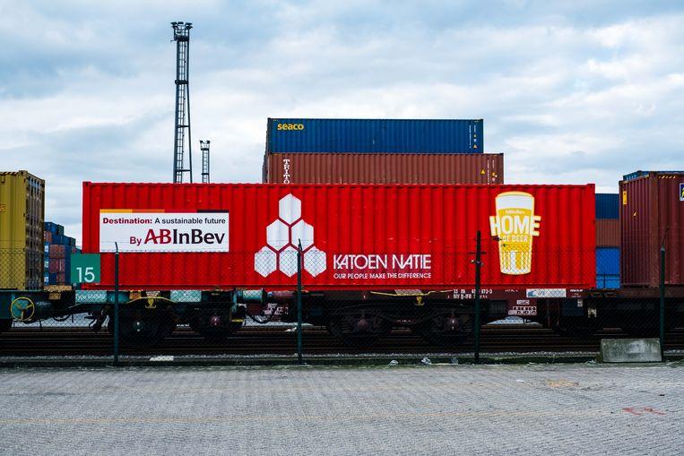 AB InBev zal het grootste deel van haar haventransport organiseren per trein.