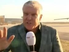 Verslaggever NOS waait live bijna uit beeld door straalmotor van Eindhovens toestel naar Libanon