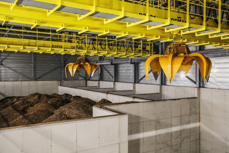 De AEB Biomassacentrale bij de Hemhavens in Amsterdam. Beeld EVA PLEVIER