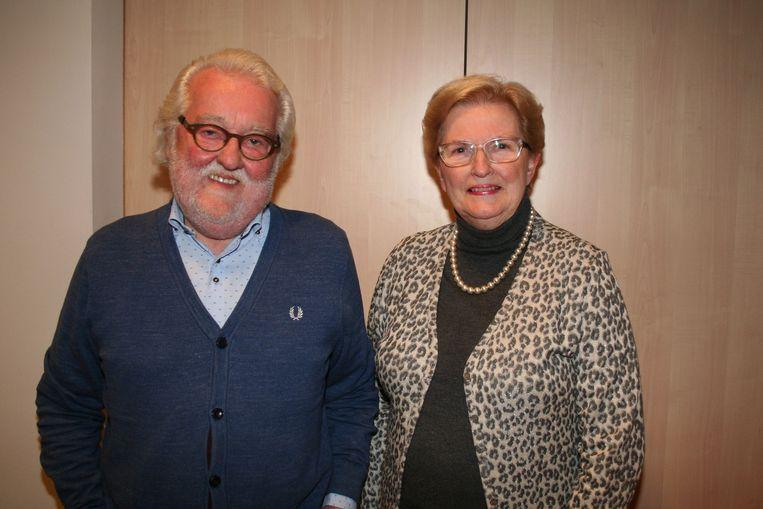Fred Francart en Godelieve Hardiquest bij hun afscheid als schepen
