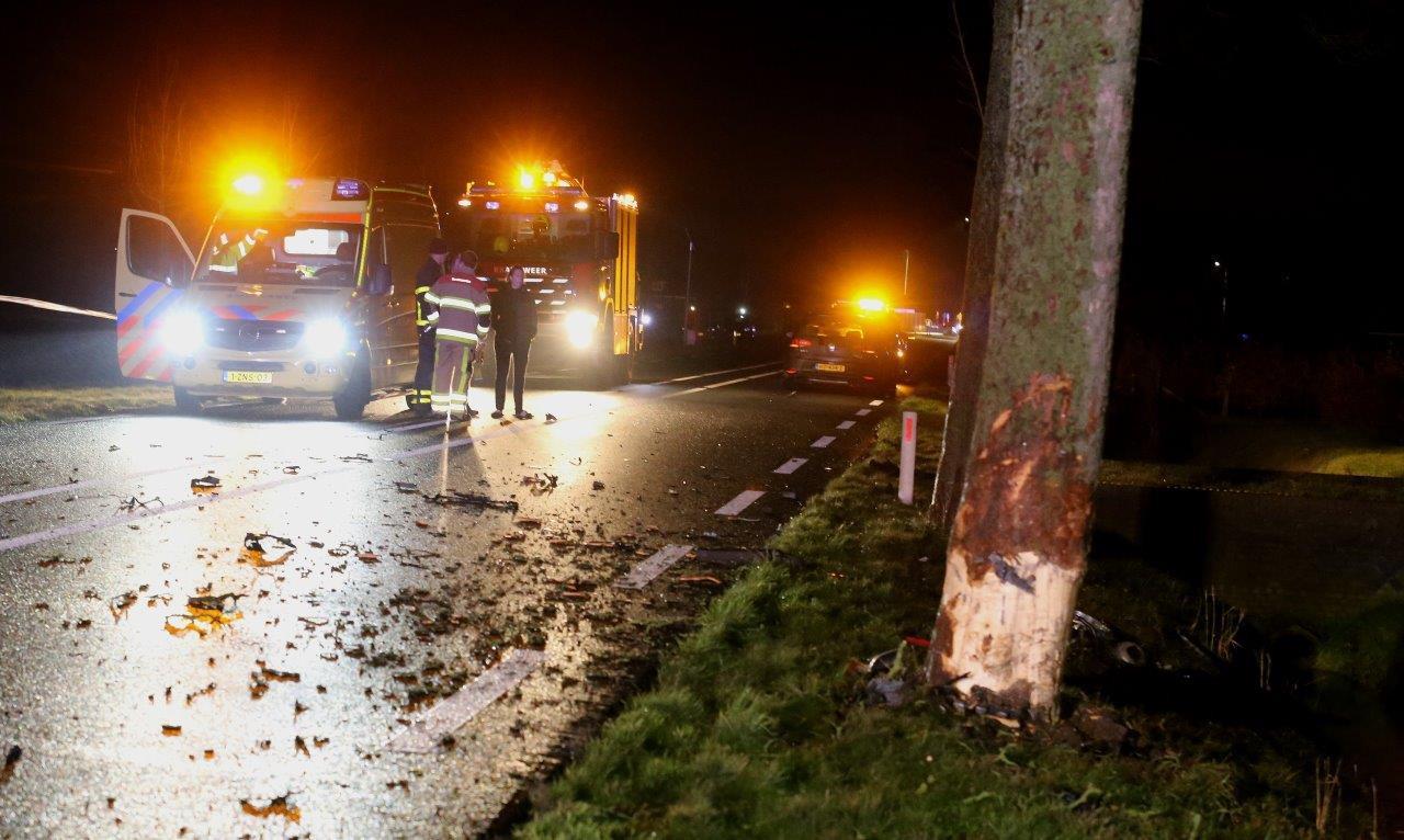 Ongeluk Steenweg in Waardenburg.