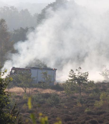 Bosbrand op de Sallandse Heuvelrug bij Nijverdal