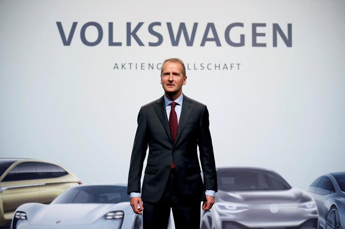 Herbert Diess, de nieuwe ceo van Volkswagen.