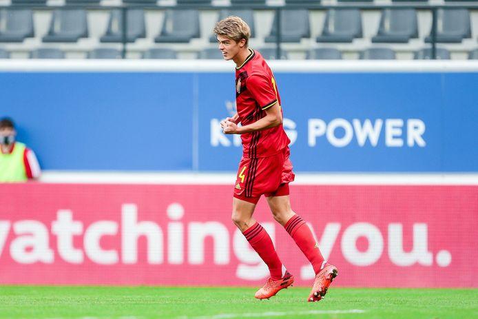 Charles De Ketelaere, buteur pour sa première avec les U21.
