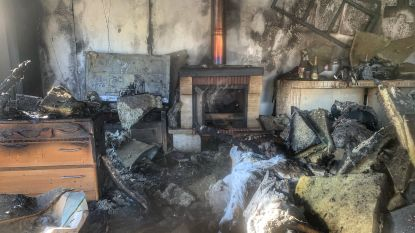 Brand door slecht werkende houtkachel: jong koppel kan tijd niet meer naar huis