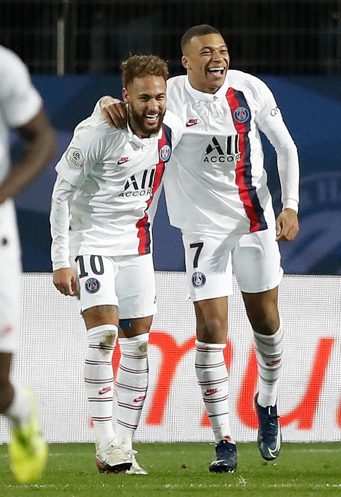 Neymar en Kylian Mbappe