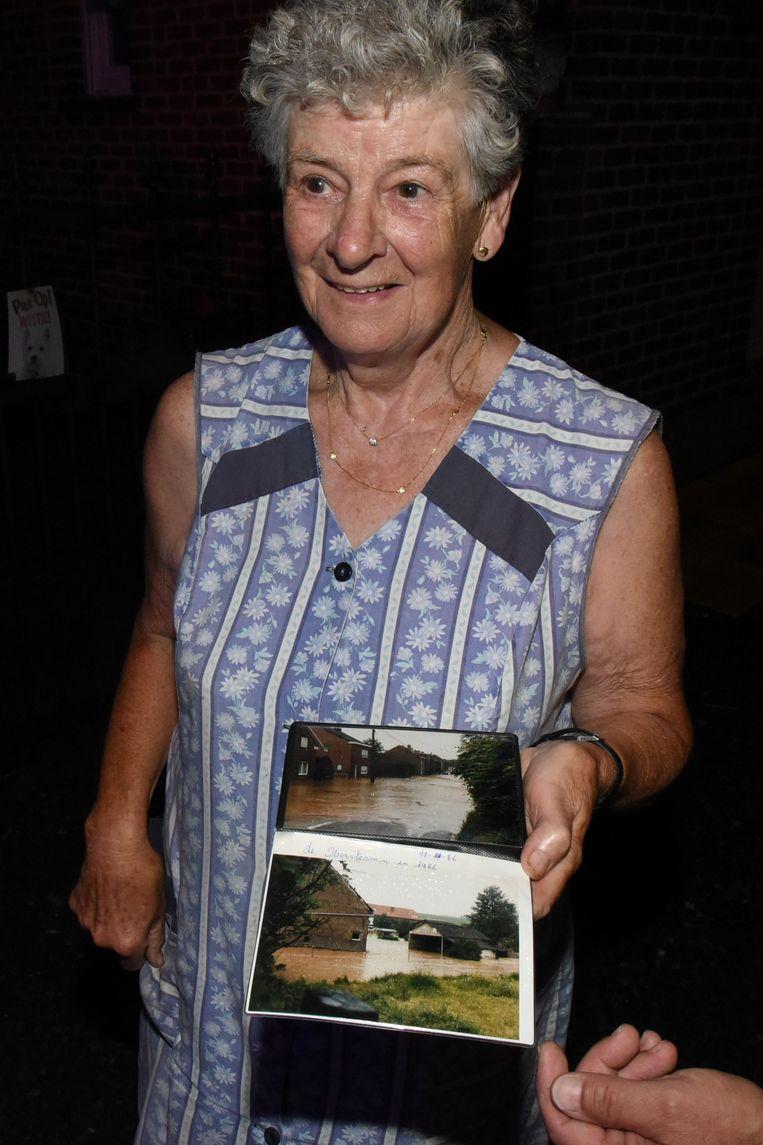Wolkbreuk op de grens van Loonbeek en Neerijse, deze vrouw heeft de vorige zware overstroming van 1986 nog meegemaakt
