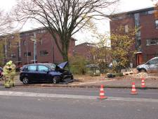 Bestuurder rijdt auto en boom in de vernieling in Ede