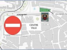 Korenmarkt verboden terrein voor OGC Nice-supporters