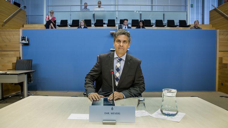 Kees Wevers, oud-directeur Financien en Control bij Vestia, in 2014 bij de Parlementaire Enquetecommissie Woningsorporaties. Beeld ANP