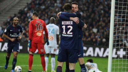PSG vernedert Marseille in het Stade Vélodrome met 1-5, Meunier geeft weer assist