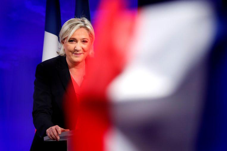 In Frankrijk, het thuisland van de rechtspopulistische Marine Le Pen, denkt 81 procent van de bevolking dat 'de elites de afgelopen twintig jaar compleet gefaald hebben'. Beeld EPA