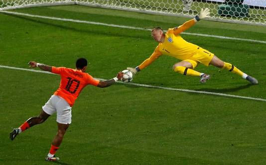 De inzet van Memphis Depay, die resulteerde in de de 2-1 tegen Engeland.